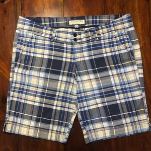Abercrombie & Fitch Stretch Plaid Walking Shorts